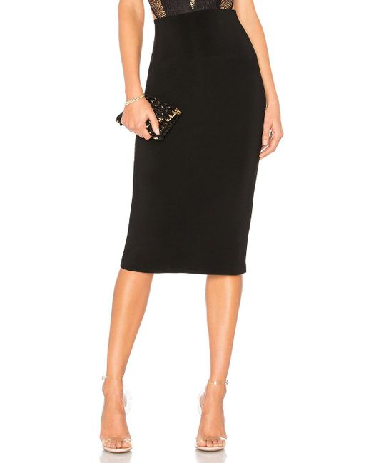 Norma Kamali - Straight Skirt In Black - Lyst