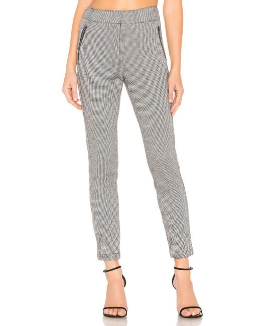 1.STATE - Multicolor Knit Puppytooth Zip Slim Leg Pant In Gray - Lyst