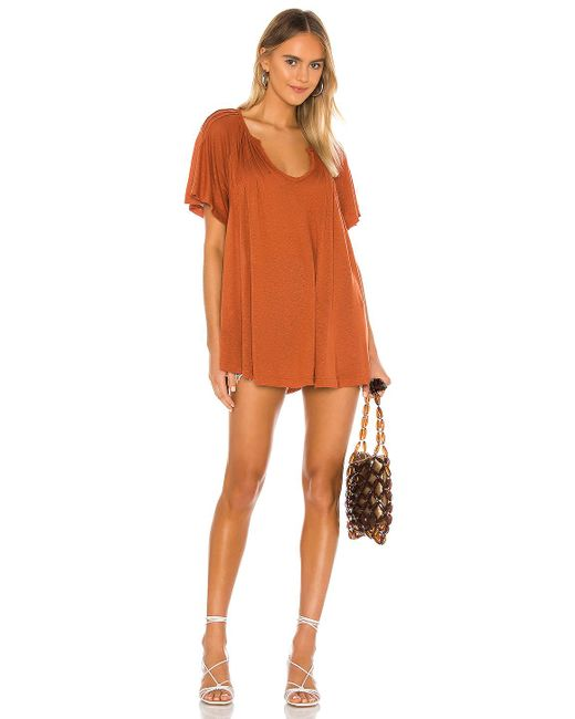 Free People Lovely Day ミニドレス Brown