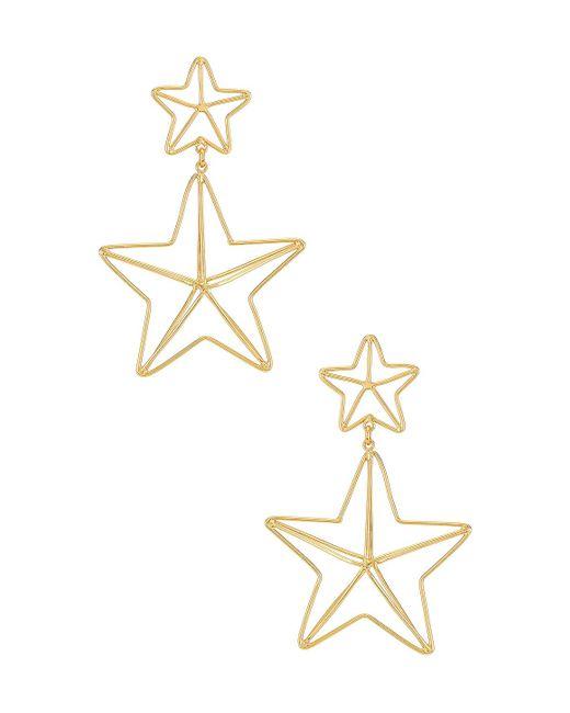 Серьги Magical Star В Цвете Золотой Mercedes Salazar, цвет: Metallic