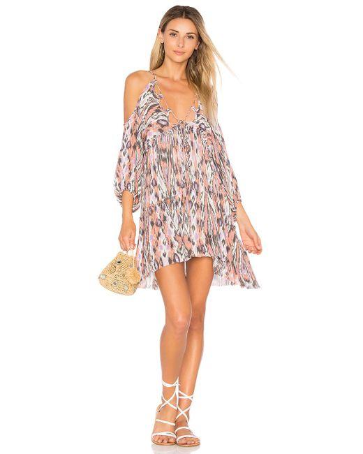 Free People   Pink Monarch Mini Dress   Lyst