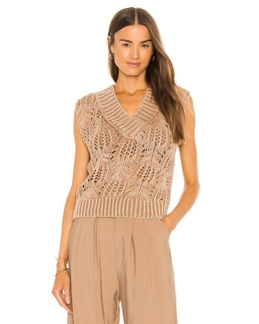 Free People Orchid ベスト Brown