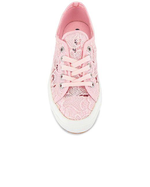 SNEAKERS MACRAME Superga en coloris Pink