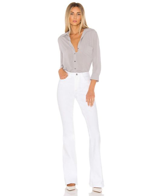 L'Agence Bell フレアデニム. Size 25. White