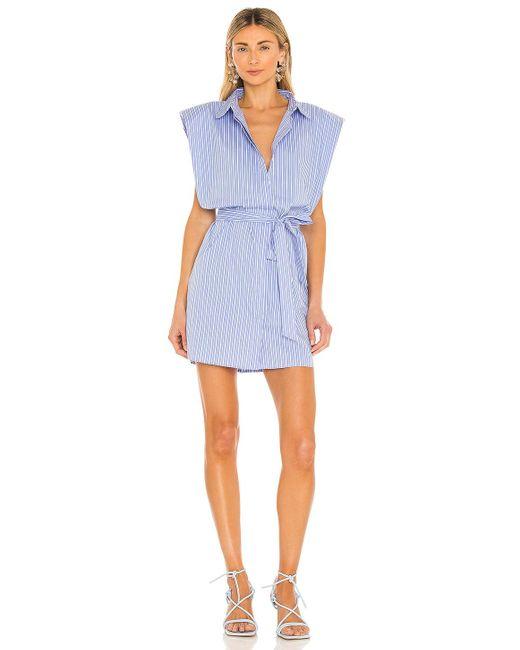 Bardot Stripe シャツドレス Blue