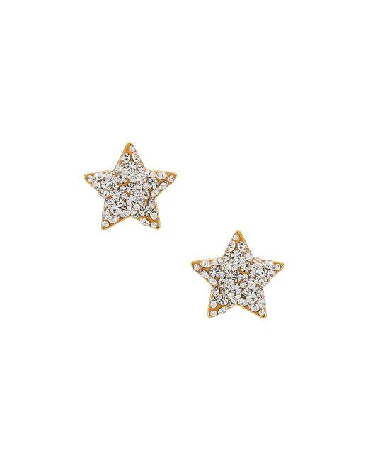 Lele Sadoughi Jeweled Star Button イヤリング Metallic