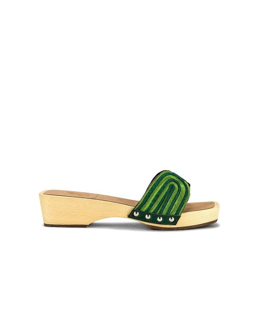 Ancient Greek Sandals The Harness クロッグ Green