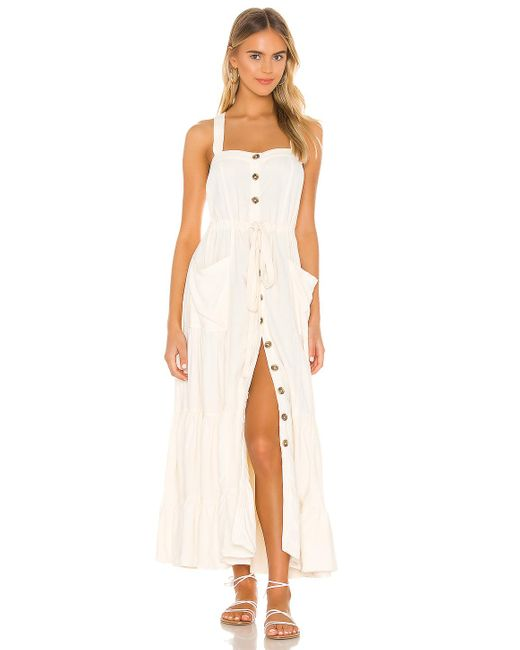 Free People Catch The Breeze ミディ丈ドレス White
