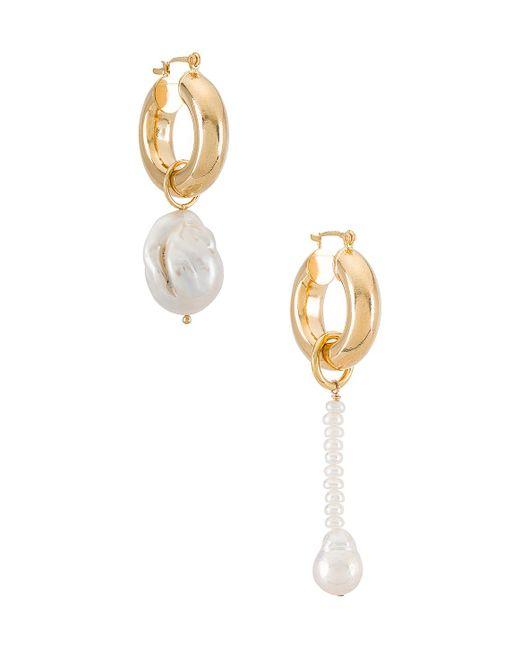 Серьги-кольца Baroque Pearl В Цвете Золотой Joolz by Martha Calvo, цвет: Metallic