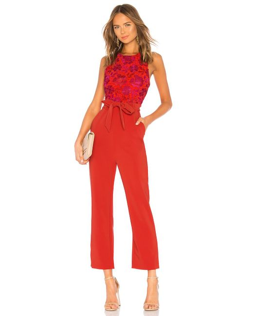 Lovers + Friends - Gardanome Jumpsuit In Red - Lyst