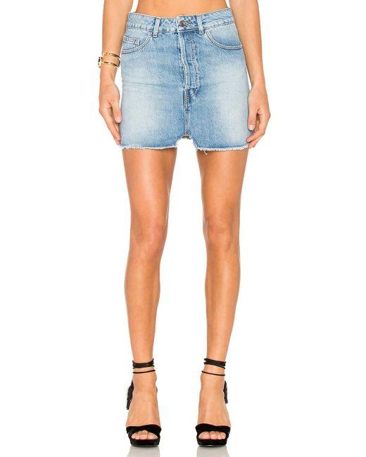 IRO - Blue Taig Mini Skirt - Lyst