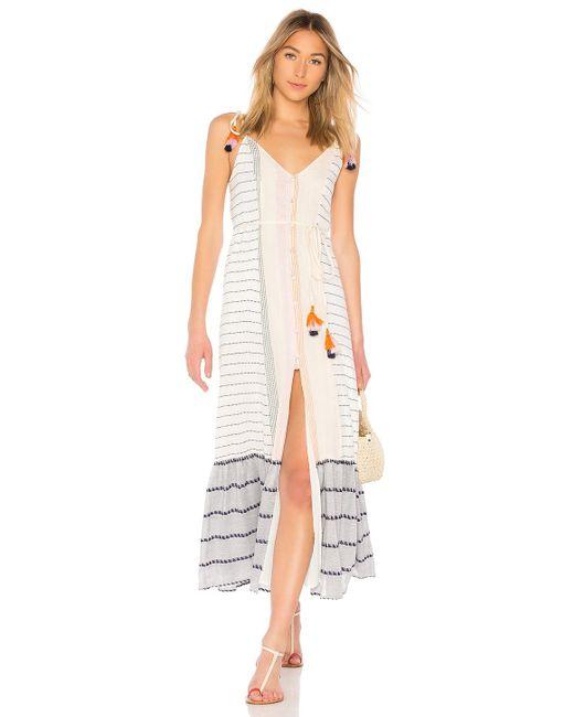 Платье Миди Villa В Цвете Calmar Stripe Tularosa, цвет: White