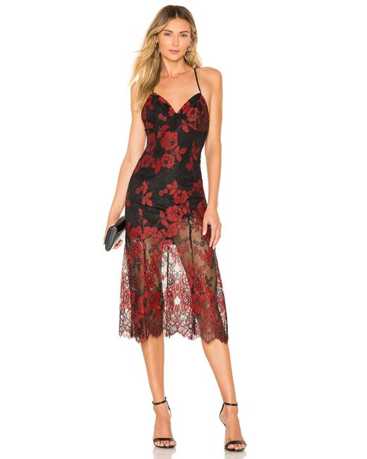 X By NBD Red Salma Gown