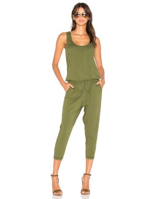 Bobi Green Supreme Jersey Sleeveless Jumpsuit