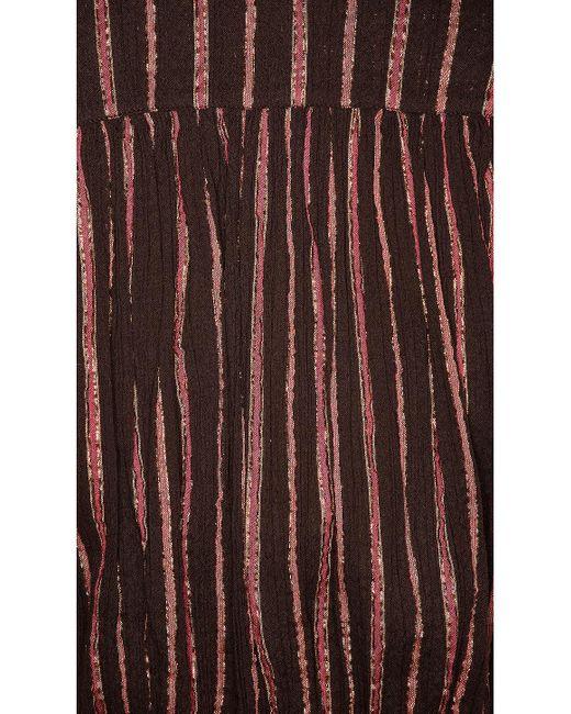 Комбинезон Elio В Цвете Шоколадный Ulla Johnson, цвет: Brown