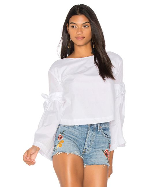 Free People   White So Obviously Yours Top   Lyst