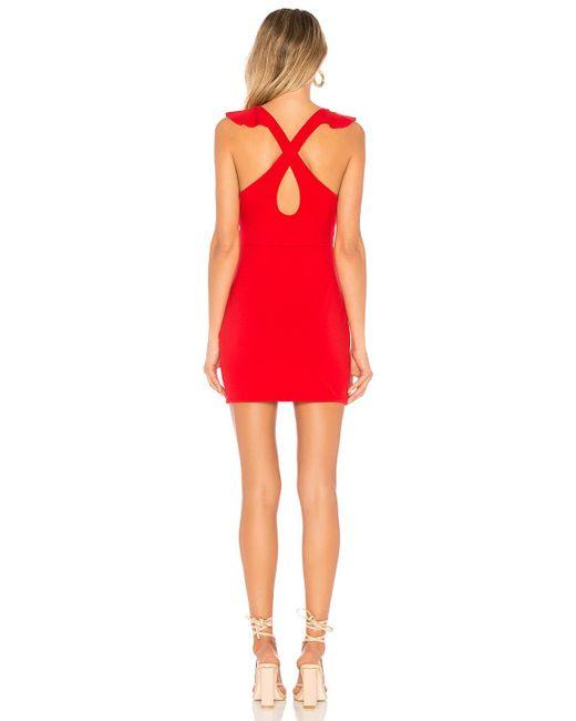 Платье Без Бретель Flora В Цвете Красный superdown, цвет: Red