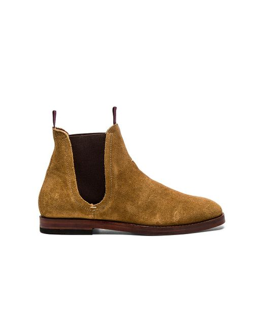 H by Hudson | Brown Tamper Suede Chelsea Boots - Beige for Men | Lyst