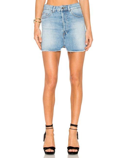 IRO   Blue Taig Mini Skirt   Lyst