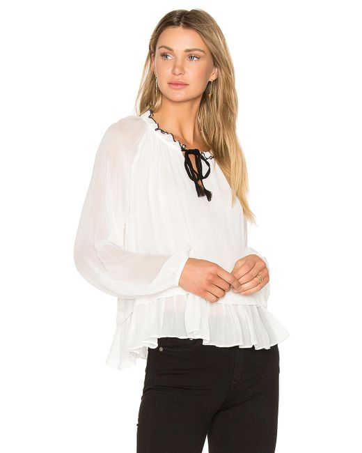 Line & Dot | White Tikk Peasant Top | Lyst