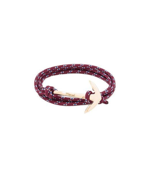 Miansai | Purple Gold Anchor On Rope | Lyst