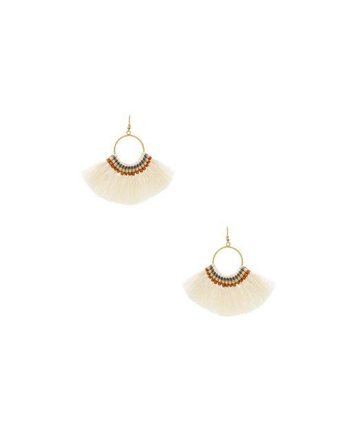 Natalie B. Jewelry   White Fringe Tassel Earrings   Lyst