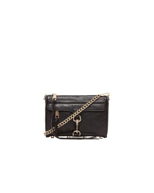 Rebecca Minkoff   Black 'mini Mac' Convertible Crossbody Bag   Lyst