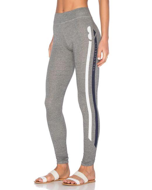 Sundry Sea Love Sun Yoga Pant In Gray (Grey)
