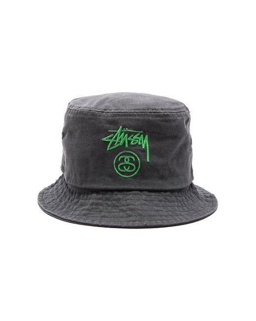Stussy Stock Lock Pigment Dye Bucket Hat in Black for Men ...