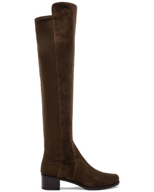 Stuart Weitzman | Brown Reserve Suede Over-The-Knee Boots | Lyst