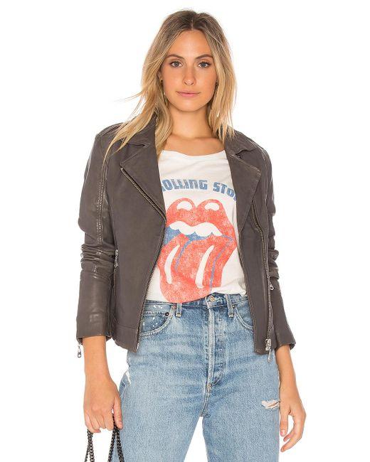 Doma Leather | Gray Basic Moto Jacket | Lyst