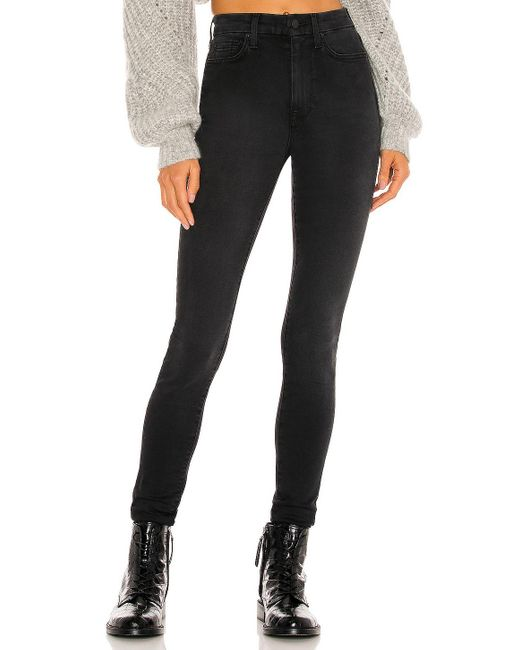 7 For All Mankind The High Waist スキニーデニム Black