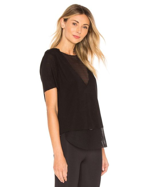Koral Black Doppellagiges-T-Shirt