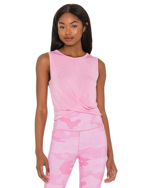 Camiseta tirantes cover Alo Yoga de color Pink