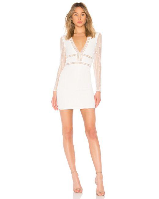 Кружевное Платье С Длинными Рукавами Lauri В Цвете Белое Кружево superdown, цвет: White