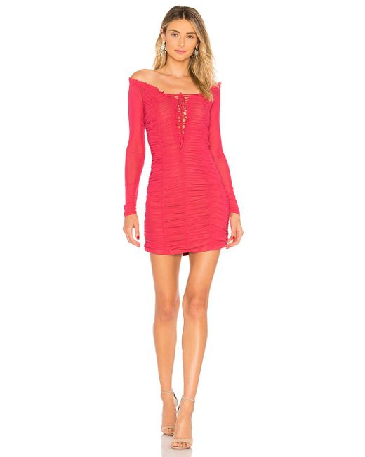 MAJORELLE - Pink Darling Dress In Coral - Lyst