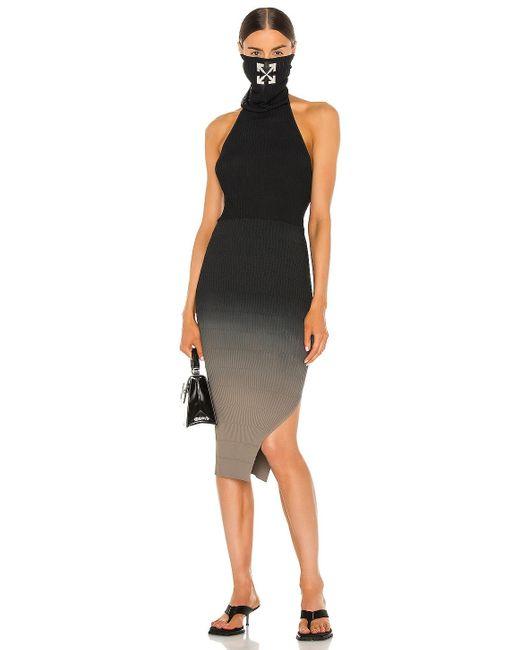 Платье В Цвете Черный Off-White c/o Virgil Abloh, цвет: Black