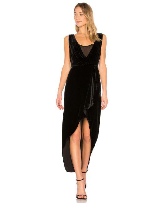 BCBGMAXAZRIA - Ria Asymmetrical Wrap Dress In Black - Lyst