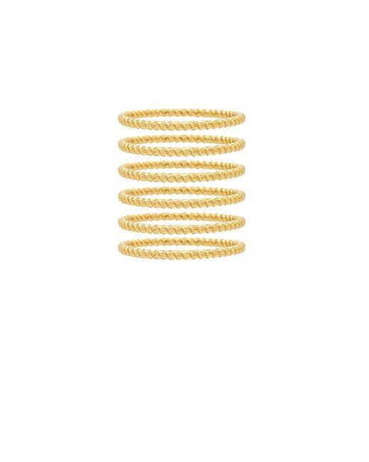 Frasier Sterling - Metallic So Much Love Ring Set In Gold. - Lyst