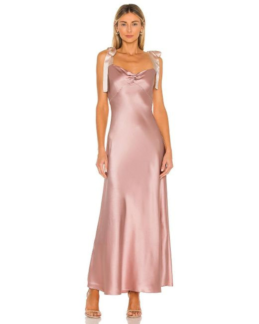 DANNIJO Purple Dress with Bow Tie Straps