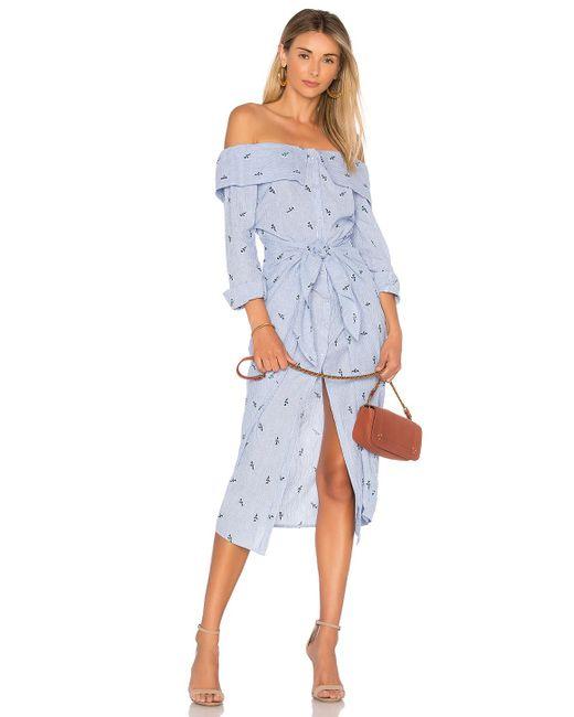 House of Harlow 1960 - X Revolve Nolita Dress In Blue - Lyst