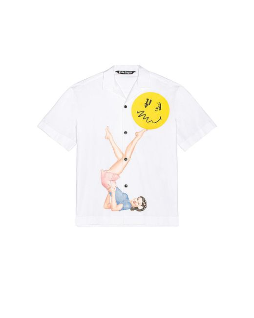 Рубашка В Цвете Белый. Размер 48 (также В 50). Palm Angels для него, цвет: White
