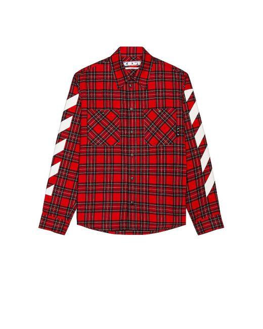 Рубашка Diag В Цвете Samba & White Off-White c/o Virgil Abloh для него, цвет: Red