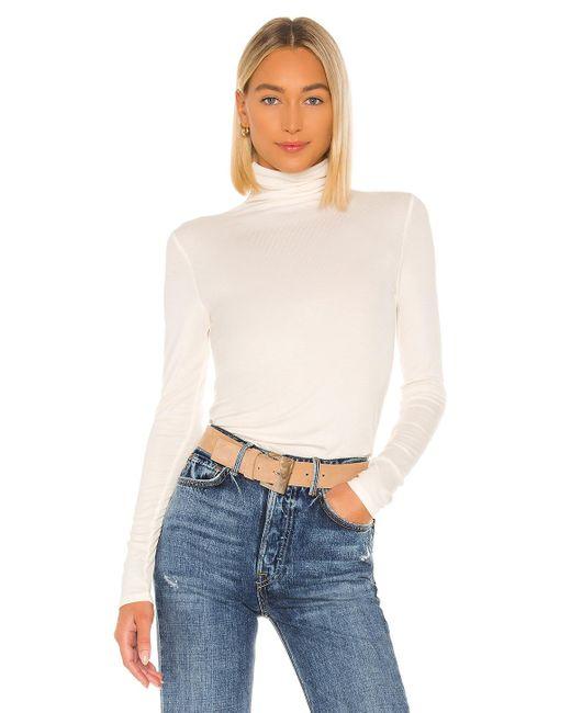 AG Jeans White Chels Turtleneck