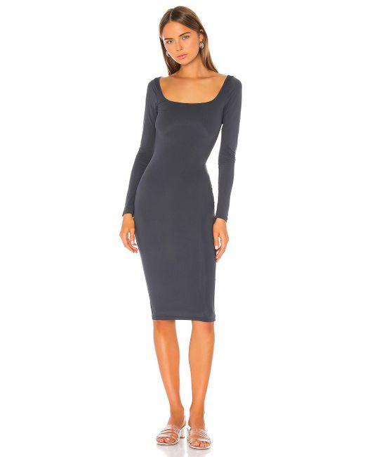 superdown Gray Shelia Midi Dress