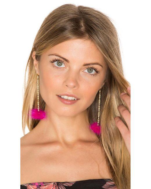 Vanessa Mooney | Pink Decades Pom Pom Earrings | Lyst
