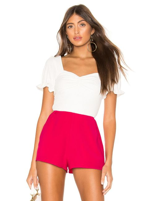 Lovers + Friends Lana Top White