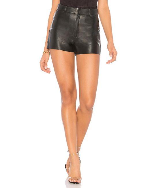 Lamarque Black Garnet Leather Shorts