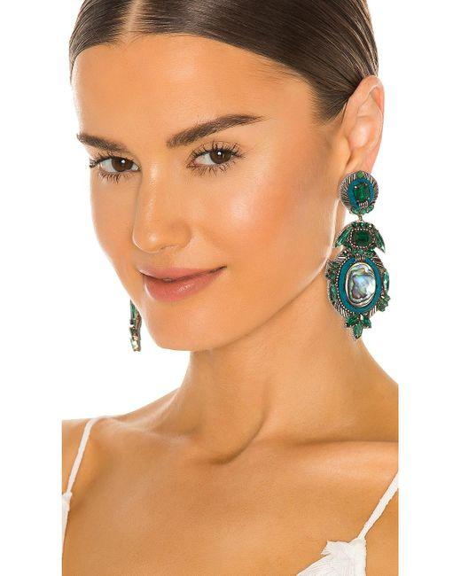 Ranjana Khan Labradorite & Crystal イヤリング Green