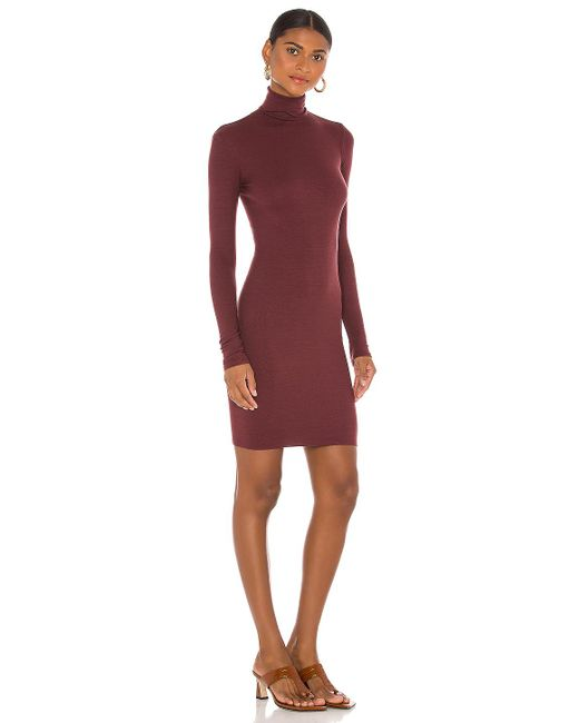 Enza Costa ドレス In Burgundy. Size S. Red